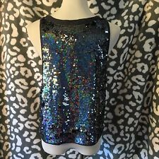 Victoria's Secret PINK Slouchy Bling Tank Top Sequin Shirt Small S NWT