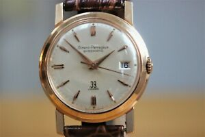 18ct Rose Gold Girard Perregaux Gyromatic with Date- 39 Jewel Movement
