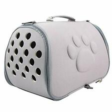 Nvted Collapsible Pet Cat Dog Carrier,Soft-Sided Portable Eva Travel Grey