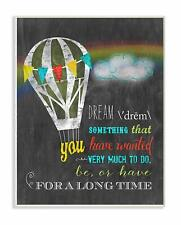 Stupell Home Décor Dream Definition With Balloon Art Wall Plaque, 10 x 0.5 x 15