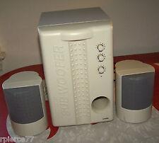 LK-5000 VINTAGE COMPUTER SUBWOOFER SYSTEM W/2 MATCHING SPEAKERS *NOT TESTED*