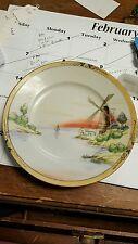 Vintage decorative sandwich plate windmill ocean bay made in Japan