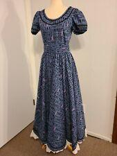 Frontier Pioneer Old West Victorian Prairie Dress Reenactment Costume Med 9/10