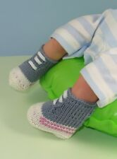 Istruzioni stampate-BABY semplice BASKET Boots Booties knitting pattern