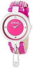 Versus by Versace Women's Key Biscayne Watch SOB030014 Pink Leather Pin Zipper