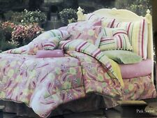 Nip Lilly Pulitzer Pink Sorbet Reversible twin comforter. Stripes And Sunflowers