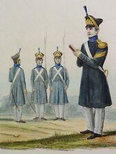 August ACHILLES (1798-1861) kolor-Litho c 1840: INFANTERIE -SOLDATEN- FELDWEBEL