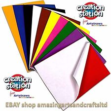 "Craft Foam Sheets A4, ""Self adhesive"" 10 Sheets Assorted  Colours"