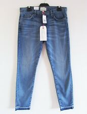 Current/Elliott Size 30 Blue Whisker Wash Frayed Hem Stiletto Skinny Jeans $340