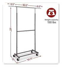Heavy Duty Commercial Garment Rack Rolling Collapsible Clothing Shelf, 150 lbs