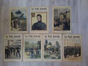Lot de 7 n° Le Petit Journal 1894-1898 Troubles Allemagne Impératrice Autriche..