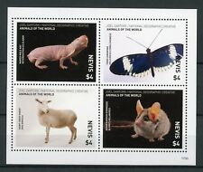 Nevis 2017 MNH Wild Animals of World 4v M/S Butterflies Rats Sheep Mice Stamps