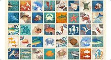 "QUILT PANEL Quilting Treasures ~ OCEAN OASIS ~ Dan Morris (25829 X) 24"" X 45"""