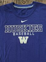 Washington Huskies Univ college NCAA baseball Nike dri-fit top tee shirt M used