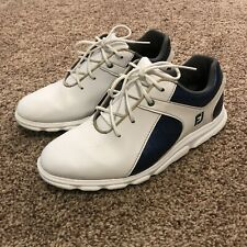 FootJoy Pro Sl Spikeless Golf Shoes White/Blue Size 5 M Junior 45039 Euc