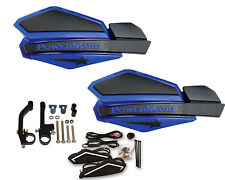 Powermadd Star Series Handguards Guards LED Kit Blue Black Snowmobile Ski Doo