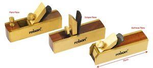 "3"" Mini Brass Bull nose Scraper Block Plane Wood Working Craft Planar Tool Set"