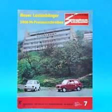 Der Deutsche Straßenverkehr 7/1974 Polski Fiat 126 MZ Saporoshez 968 Trabant G