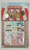 Kids Children's Play Money Fake Pretend Role Shops Cash £ Pound Notes Coins Toy