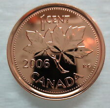 2006P CANADA 1 CENT STEEL PROOF-LIKE MAGNETIC PENNY COIN