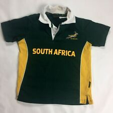 Sa Rugby Shirt Jersey sz 10 Age 9/10 Green Youth South Africa Cotton