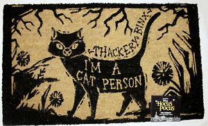 HOCUS POCUS Thackery Binx Black Cat Person Coir Doormat Disney Witch Sanderson