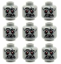 Custom Designed Heads Walking Dead 9 Zombie Alien Monster Printed On LEGO Parts