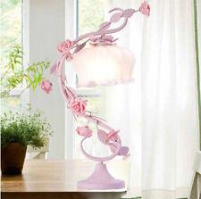 1 PC Romantic French Rose Flower Bedside Desk Table Lamp Pink Best Wedding Gift