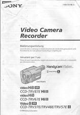 Sony originale MANUALE PER HI 8 CCD-TRV 37/48/57/67/87e
