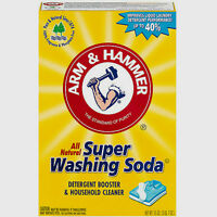 Arm & Hammer SUPER WASHING SODA 55 oz Detergent Booster Household Cleaner #03020