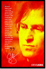 STEVE JOBS ART PHOTO PRINT 3 POSTER GIFT QUOTE COMPUTING