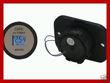 Waterproof 12 volt DC voltmeter/gauge for marine/boat/4WD/motorcycle/RV/DIY/auto