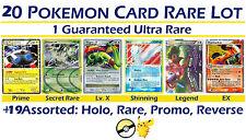 1 ULTRA RARE Pokemon Card + 20 H/R/R Lot: Lv X EX Mega? Zoroark Tapu Koko Mew?GX