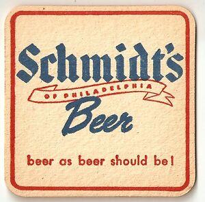 16 Schmidt's Phila Beer / Ale As It Should Be Coasters