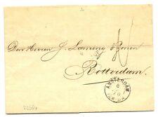 NEDERLAND 1870  BRIEF  - LANGST = DE RIJP  =  PR EX