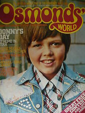 OSMONDS WORLD MAGAZINE - ISSUE 20 JUNE 1975 (DONNY & MARIE OSMOND POSTER)