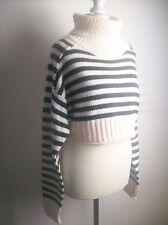 Zara Cropped Striped High Neck Sweater Size M  Jumper Pullover