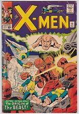 X-Men #15 G+ 2.5 Cyclops Angel Beast Iceman Marvel Girl Sentinels!