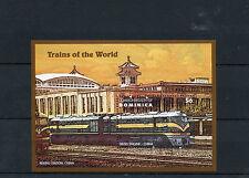 Dominica 1995 MNH Trains of World 1v S/S Railways Diesel Engine Peking Station