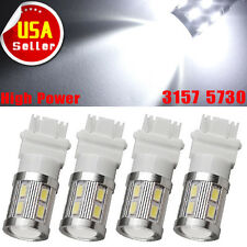 4x Pure White 3157 3156 High Power 10W LED Backup Reverse Tail Brake Light Bulbs
