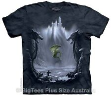 Lost Valley Dragon Fantasy Art T-Shirt - BigTees - Label U.S 4XL (Fits AUST 6XL)