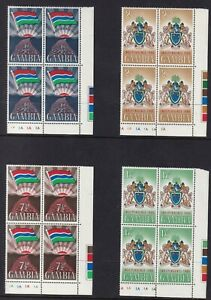 GAMBIA 1965 Independence set MUH blks of 4 (1015)