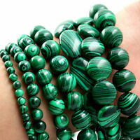 5/10/20/30/40Pcs Green Malachite Gemstone Loose Beads Making DIY 4/6/8/10/12MM
