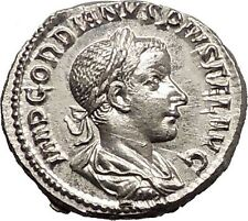 GORDIAN III 238AD Rare Ancient Silver Denarius Roman Coin Security Cult  i57329
