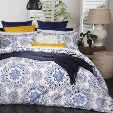 Logan and Mason BALI INDIGO Blue Double Bed Doona Duvet Quilt Cover Set NEW