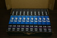 NEW 10 VHS LOT MAXELL T-30 P/I PLUS BLANK TAPES 10 PACK - RECORDING