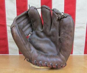 Vintage 1950s Wilson Leather Baseball Glove Fielders Mitt Harvey Kuenn A2060