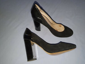 Mimco Size 41 Well Worn Office Work High Heels Black Leather