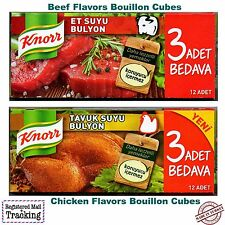 Knorr beef broths and chicken broths flavored bouillon cubes - Made in Turkey