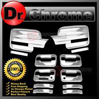 09-14 Ford F150 Chrome Mirror+4 Door Handle+keypad+PSG keyhole Cover COMBO kit